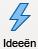 pictogram met bliksemflits