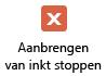 Met de knop Inkt stoppen wordt de muisaanwijzer terug in een gewoon selectiehulpmiddel.