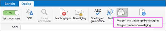 Ontvang meldingen bij e-maillevering.