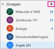 Linkernavigatiedeelvenster in de webversie van Outlook met de knop Maken gemarkeerd