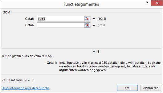 Wizard Functie in Excel