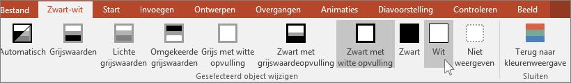 toont het wijzigen van het geselecteerde objectmenu in PowerPoint