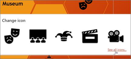 Een selectie van theaterpictogrammen