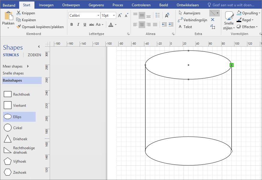 Teken lijnen handmatig om de vorm te voltooien.