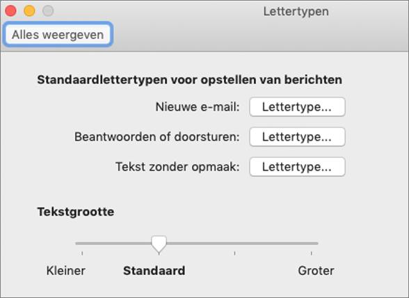 Het dialoogvenster Lettertypen