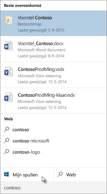 Zoeken op Windows-bureaublad