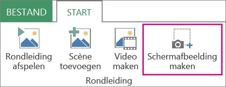 Schermafbeelding maken op het tabblad Start