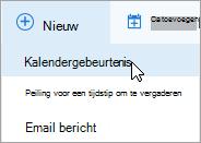 Een nieuwe onlinevergadering maken