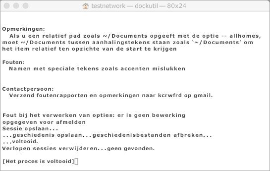 Houd Control ingedrukt en klik op het hulpprogramma Dockutil om het uit te voeren.