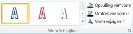 Groep WordArt-stijlen in Publisher 2010
