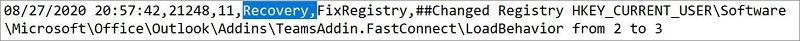 """Afbeelding van Microsoft Ondersteunings- en herstelassistent-aanmeldbestand. Het woord """"Herstel"""" is gemarkeerd."""