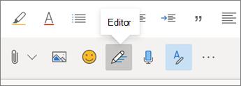 Knop voor editor