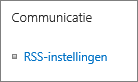 Instellingen lijstcommunicatie (RSS)