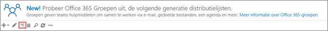 Op het pictogram Upgrade naar Office 365-groepen klikken of tikken