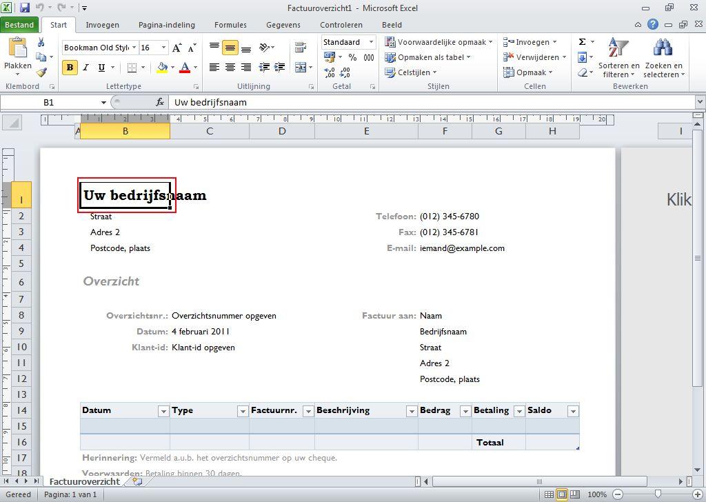 Aan de slag met de oefening voor Project 2010