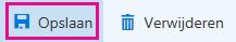 De knop Opslaan op de paginawerkbalk Bedrijfsgegevens