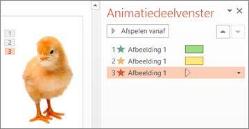 Meerdere animaties toepassen op één object