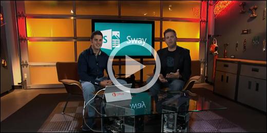 Introductievideo voor Sway: klik op de afbeelding om af te spelen