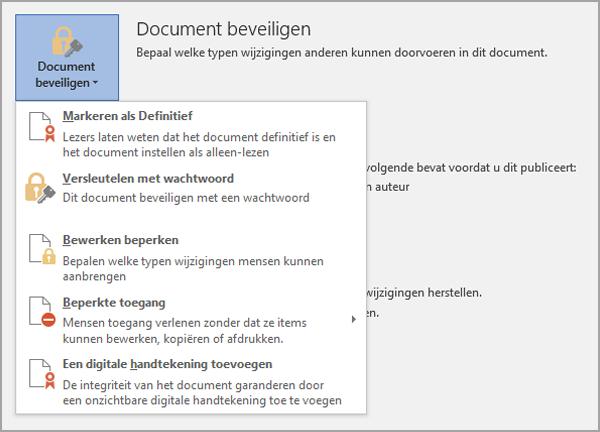 Document beveiligen