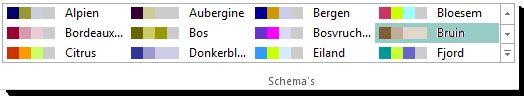 galerie met kleurenschema's