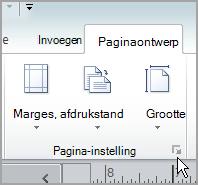 startprogramma voor Pagina-instelling