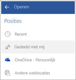Schermafbeelding van hoe u bestanden kunt openen die anderen met u hebben gedeeld in Android.