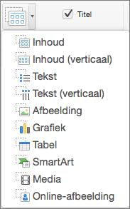 Tijdelijke aanduiding invoegen in PowerPoint voor Mac