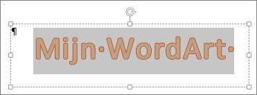 Geselecteerde WordArt