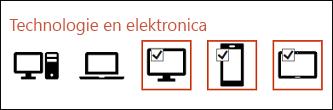 U kunt meerdere pictogrammen selecteren die u wilt invoegen door één keer op elk pictogram te klikken.