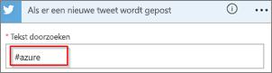 Schermafbeelding: Typ het gewenste trefwoord