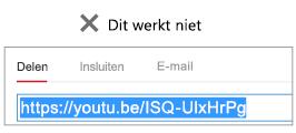 Als de invoegcode met http begint, wordt uw video niet correct ingesloten.