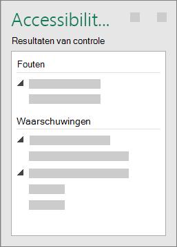 Groep Resultaten van controle