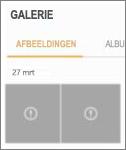 Een versleuteld afbeeldingsbestand in de Galerie-app.