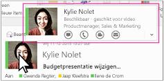 Snelmenu van Skype voor Bedrijven