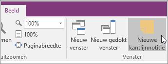 Schermafbeelding van de knop Nieuwe kantlijnnotitie in OneNote 2016.