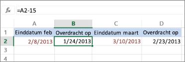 datum berekenen