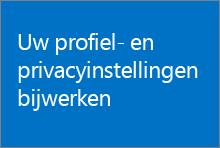 Trainingscursus waarin wordt uitgelegd hoe u profiel- en privacy-instellingen kunt bijwerken in SharePoint Online