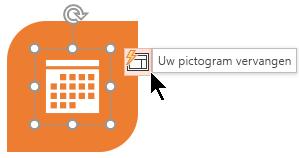 Als u een voorgesteld pictogram niet bevalt, kunt u dit eenvoudig vervangen