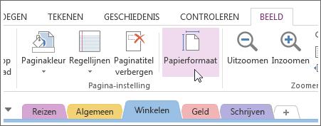 u kunt het papierformaat aanpassen aan de sjabloon die u maakt