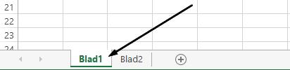 Excel-werkbladtabs bevinden zich onder in het Excel-venster.
