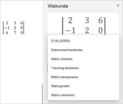 Oplossingsopties voor matrices