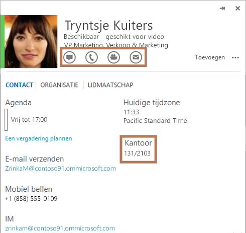 Visitekaartje van Skype voor Bedrijven