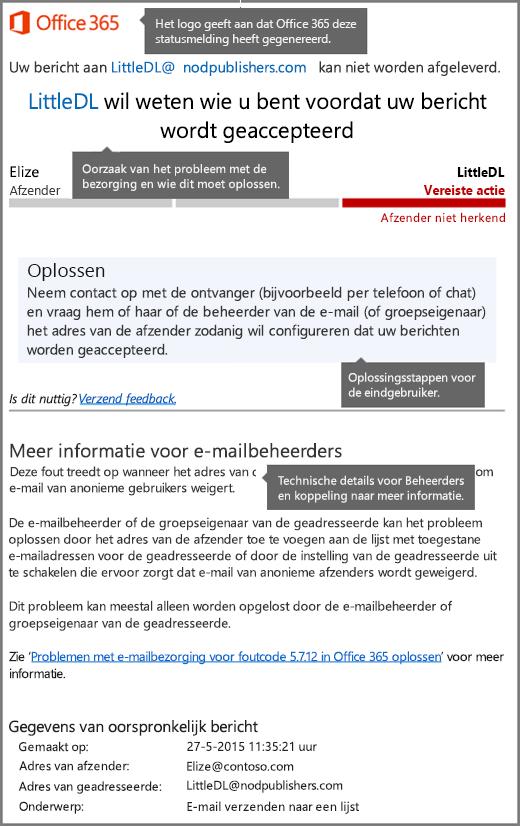 Nieuwste indeling voor melding van afleveringsstatus (DSN) in Office 365
