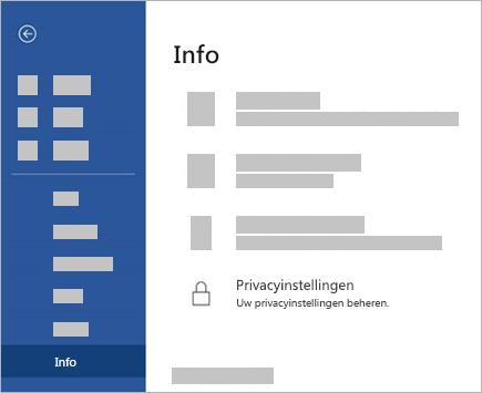 Schermafbeelding van de knop Privacy-instellingen