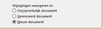 Wijzigingen weergeven in een nieuw document