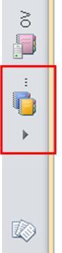 Tabblad voor de overloop van notitieblokken