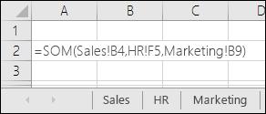 Excel-formuleverwijzing voor meerdere bladen