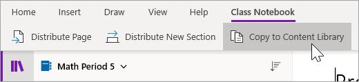 Selecteer kopiëren naar inhouds bibliotheek.