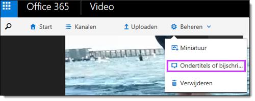 Office 365 Video-ondertitels