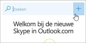 Schermafbeelding van de knop Nieuw gesprek